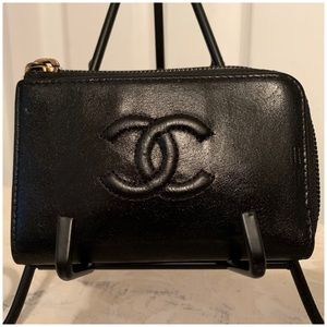 Chanel Card Holder Coin Holder Lambskin Leather
